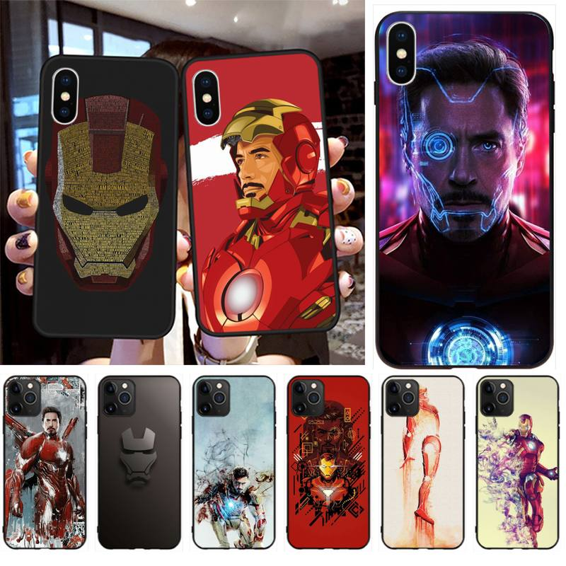 Funda de teléfono de lujo con diseño único para iPhone 11 pro XS MAX 8 7 6S Plus X 5S SE 2020 XR de Iron Man, Robert Downey Jr.