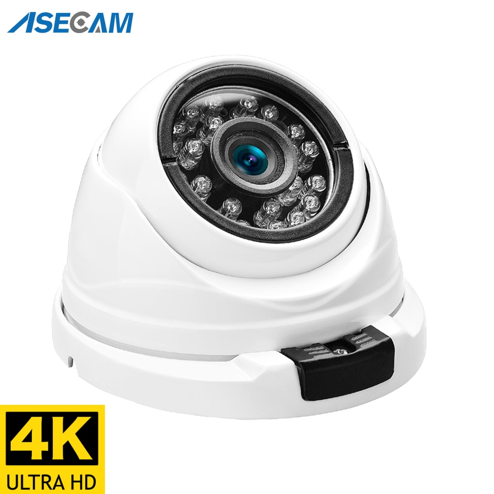4K Ultra HD IP Camera Outdoor POE H.265 Onvif Metal Indoor Dome CCTV Wide Angle 2.8mm Security 8MP V