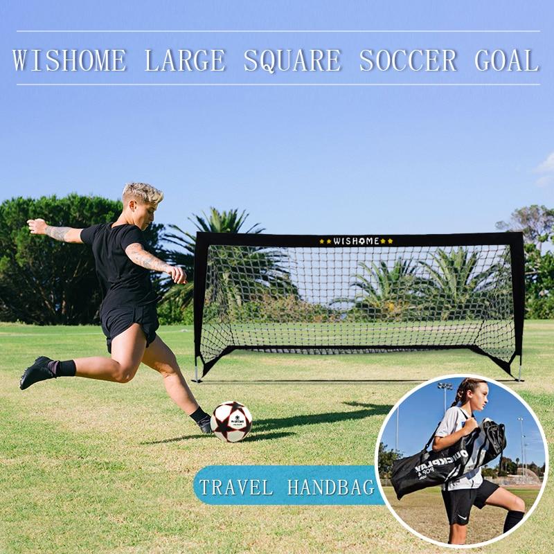 WISHOME للطي هدف كبير لكرة القدم لساحة الفناء الخلفي لكرة القدم بوابة كرة القدم صافي للأطفال الأسرة الرياضة في الهواء الطلق معدات التدريب