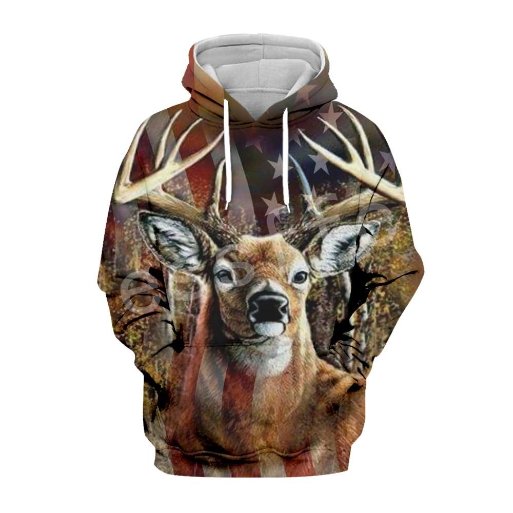 Tessffel Hunter Animal Camo moda Chándal 3DPrint Hoodie/sudadera/chaqueta/hombres mujeres colorido casual Harajuku type4