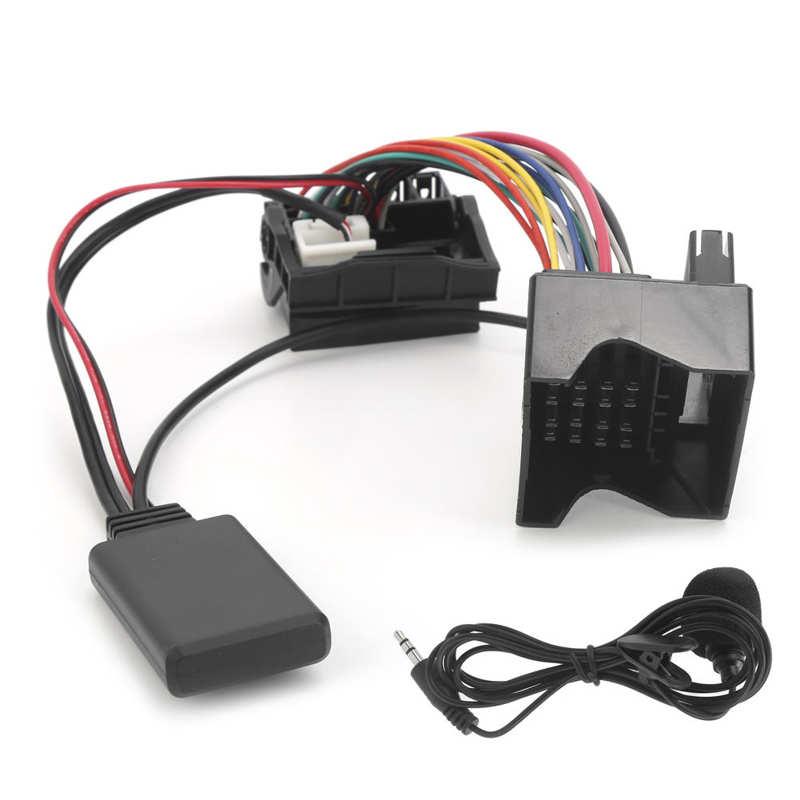 Автомобильный модуль Bluetooth 5,0 для подключения кабеля аудиоадаптера, подходит для Citroen C2/ C3/ C4/ C5/ C6 с микрофоном для Peugeot 307 207 407