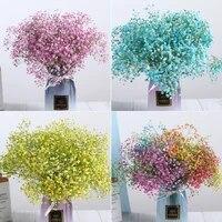 Fleurs naturelles sechees et conservees Gypsophila paniculata  bouquets de fleurs respirantes pour bebe  cadeau pour decoration de mariage  decoration de maison