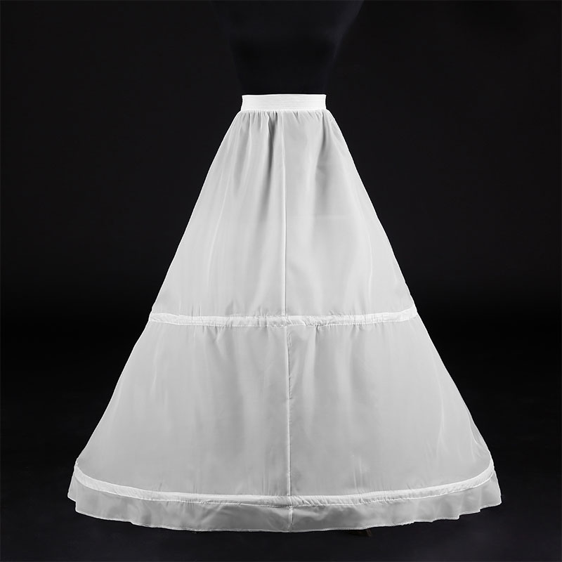 Wownupciales para mujer, accesorios De boda blancos De dos aros, croinolines, Vestidos...