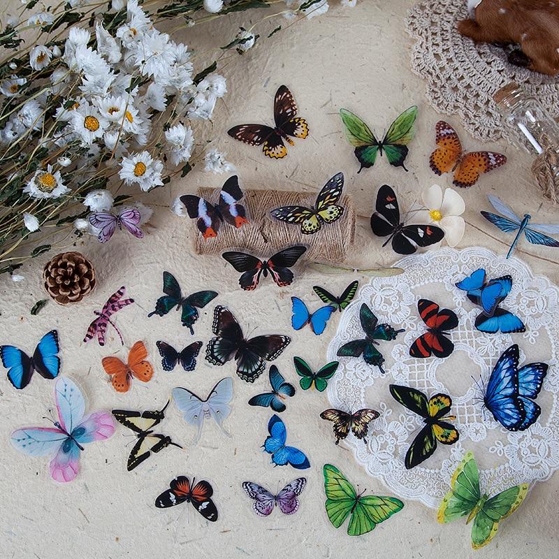 40-pz-pacco-farfalla-adesivi-diario-di-tenuta-etichetta-adesiva-decal-sticker-viaggio-fai-da-te-scrapbooking-diario-planner-album-decorazione