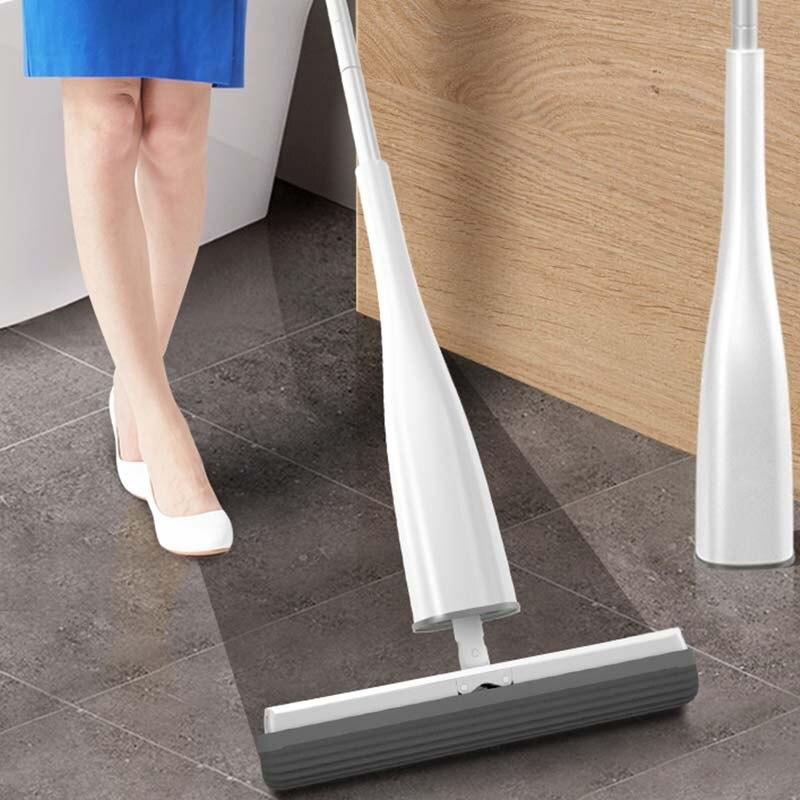 Automatische Selbst-Auswringen 360 Grad Rotierenden Mop mit PVA Schwamm Mopp Köpfe Kostenloser Hand Waschen für Schlafzimmer Boden sauber