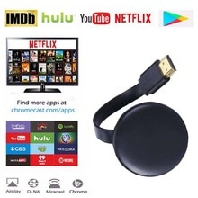 Google Chromecast Youtube Netflix TV беспроводная WiFi зеркальная коробка TV Stick видео дисплей HD экран Mirroring Dongle приемник адаптер