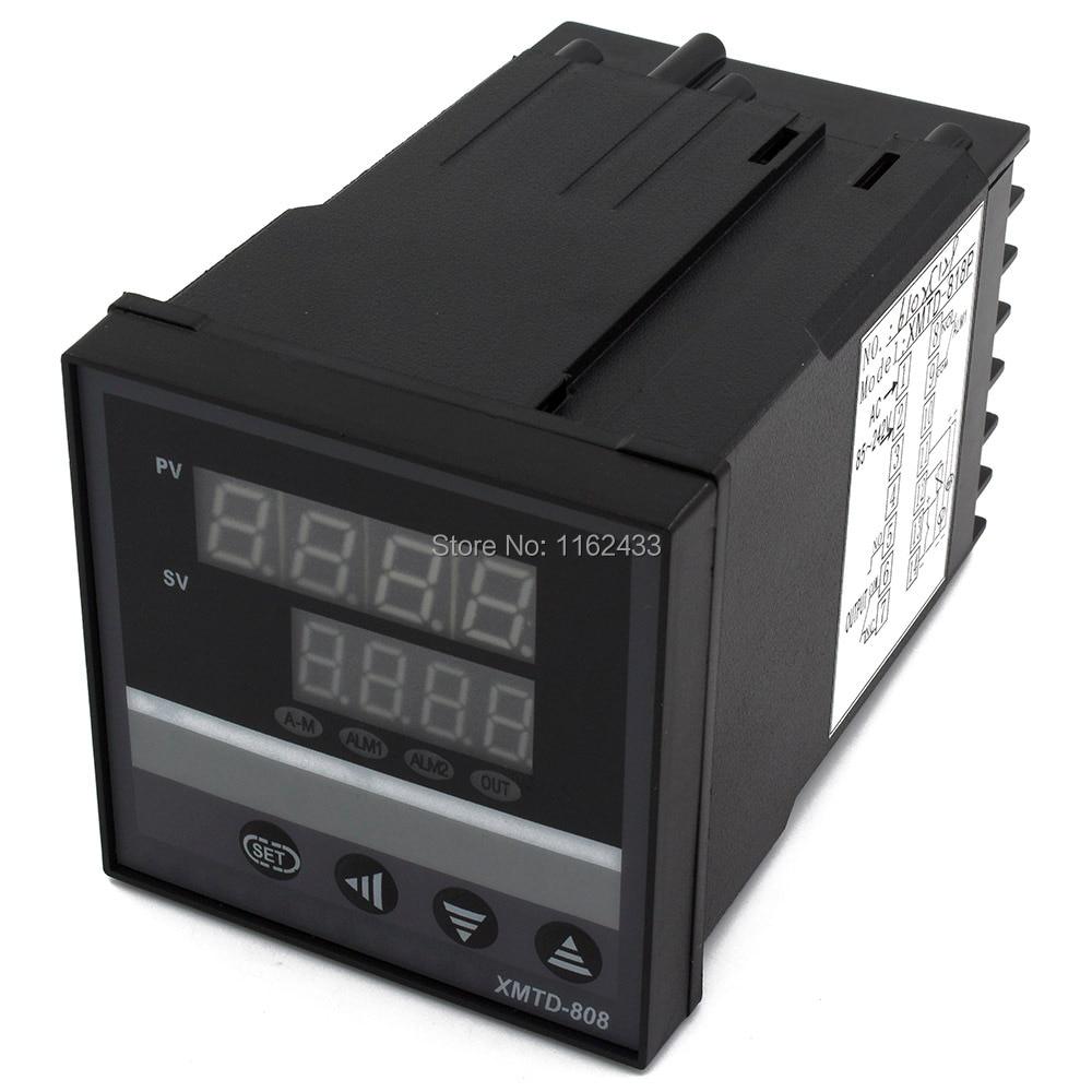 XMTD-8 منحدر نقع وحدة تحكم في درجة الحرارة pid الرقمية (يمكن تعيين شرائح متعددة البرنامج) التتابع SSR 0-22mA SCR الإخراج