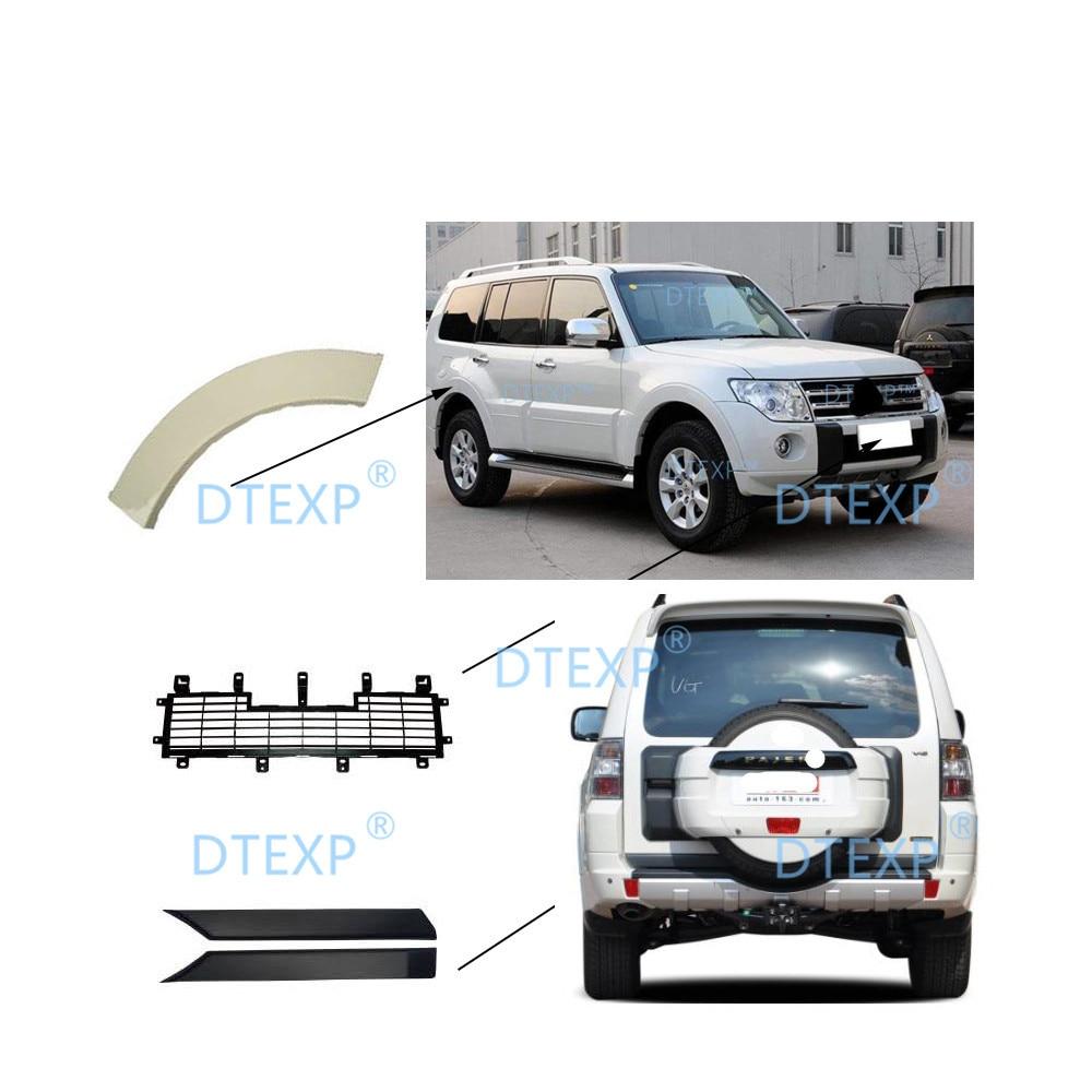 2007-2011 Front Bumper Net for Pajero V97 Rear Eyebrown for Montero V93 Tail Door Cover for Shogun V95 V98 V87