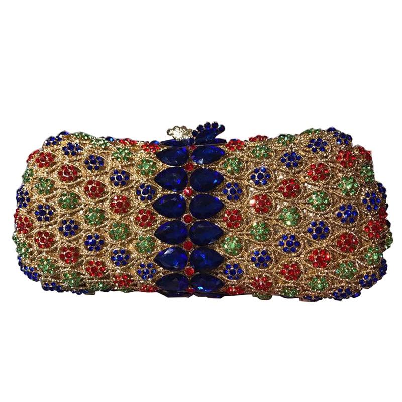 New Luxury Bag for Wedding&Party Luxury Handbags Women Bags Designer Rhinestone Wedding Party Clutch Evening Bags Clutch Purse