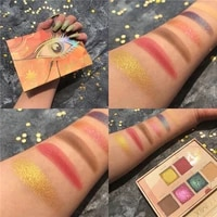 6 color shimmer matte eyeshadow pallete glitter metallic diamond eyeshadow palette pigmented maquillage makeup palette cosmetic