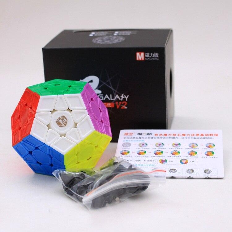 X-man Mofangge Qiyi XMD Galaxy V2 M dodecaedro Cubo magnético profesional Wumofang 3X3 Cubo mágico juguetes educativos para niños