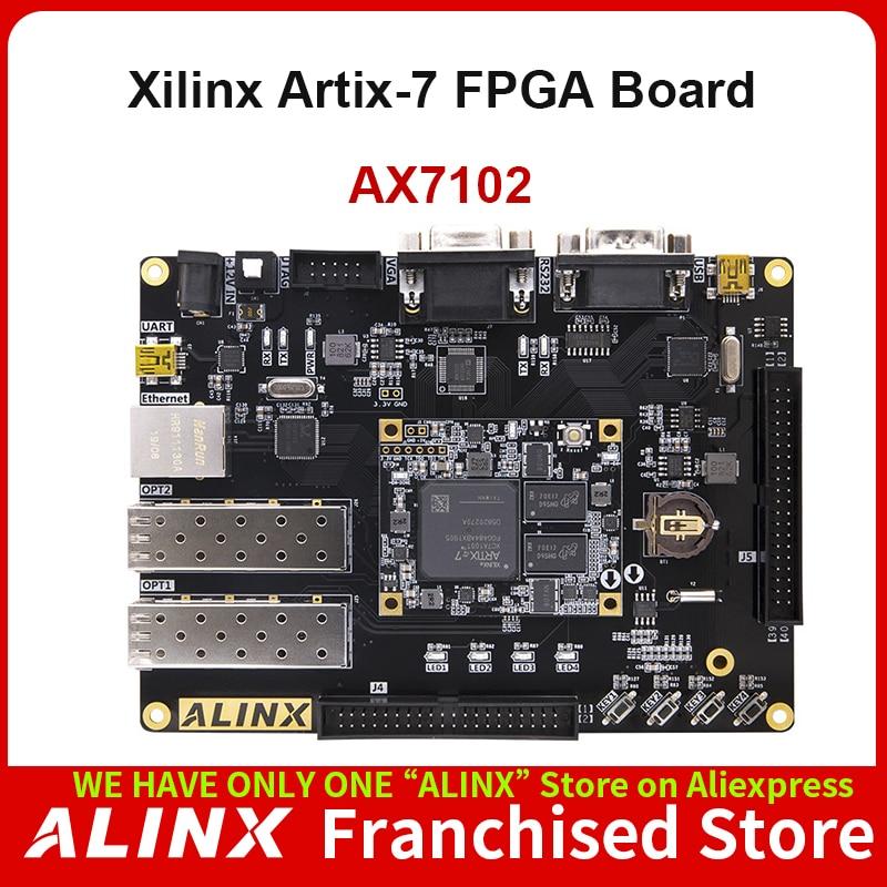 ALINX AX7102: XILINX Artix-7 XC7A100T FPGA Development Board A7 SoMs SFP Gigabit Ethernet VGA Evaluation Board