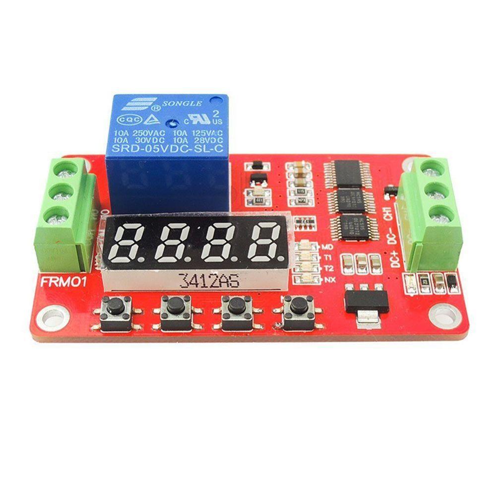 FRM01 Многофункциональный релейный модуль/циклическая Задержка/переключатель таймера/самоблокирующийся/12 В опционально