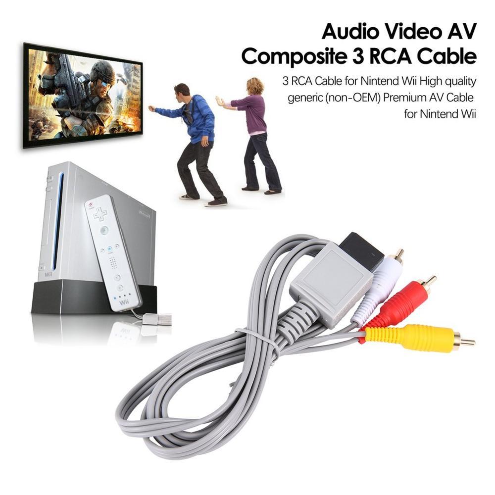 Cable RCA de Audio y vídeo chapado en oro para Nintendo Wii,...