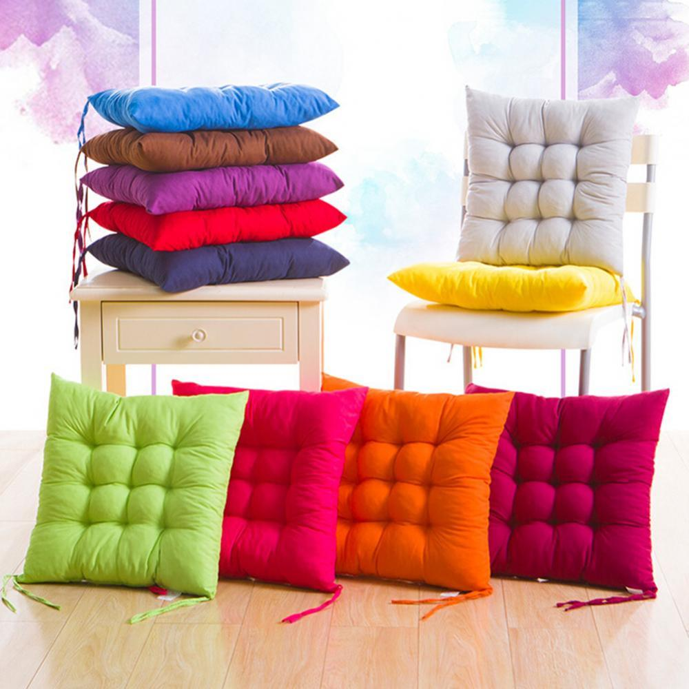 Soft Thicken Pad Chair Cushion Tie on Seat Dining Room Kitchen Office Decor Computer Cushion Chair Decor Backrest Pillow