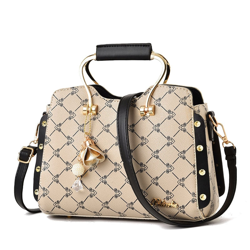 Brand Fashion Female Bag Women Leather Handbag Vintage Messenger Bag Letter Bags for Women 2021 Bag