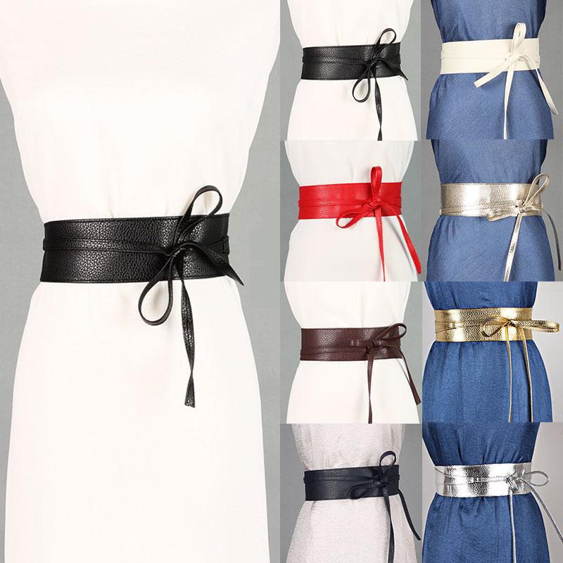 Элегантный ремень, изысканный Универсальный стильный аксессуар для одежды из искусственной кожи, пояс с широкой талией и бантом