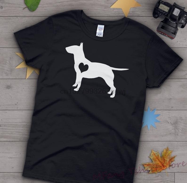 Toro camisa Terrier hombres y mujeres amantes de los perros regalo Bull Terrier camiseta Perro Bullterrier amantes de los perros camiseta mascota Tee Tops azul marino