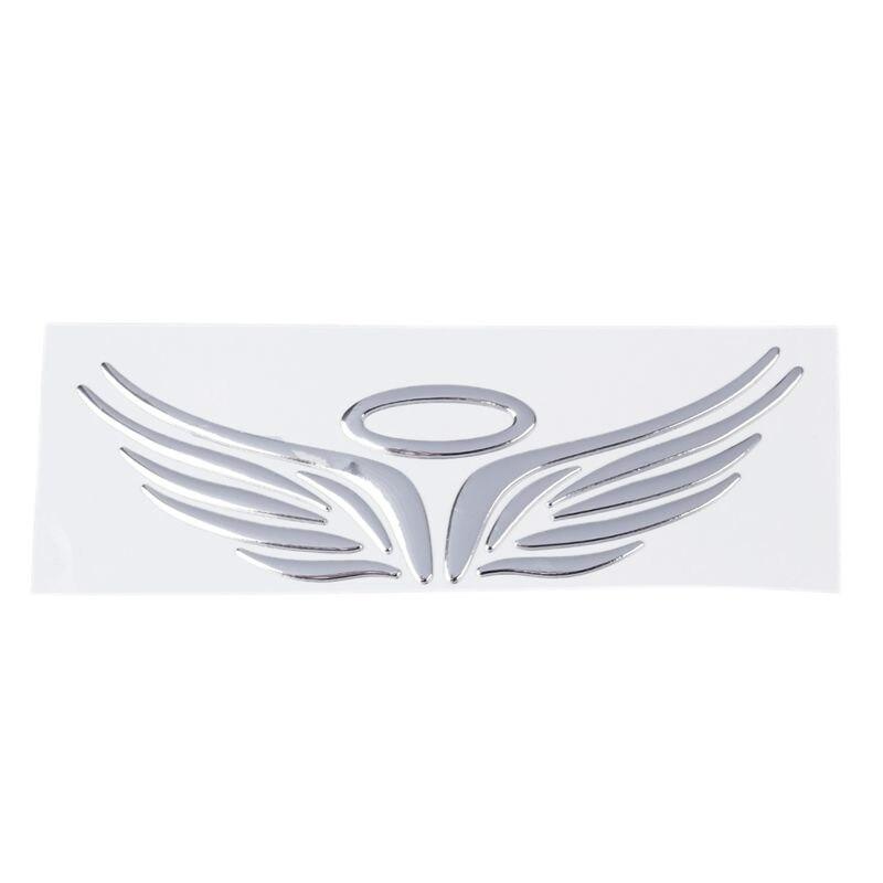 3D cromo ala de Ángel pegatina emblema de coche pegatina decoración Color plata
