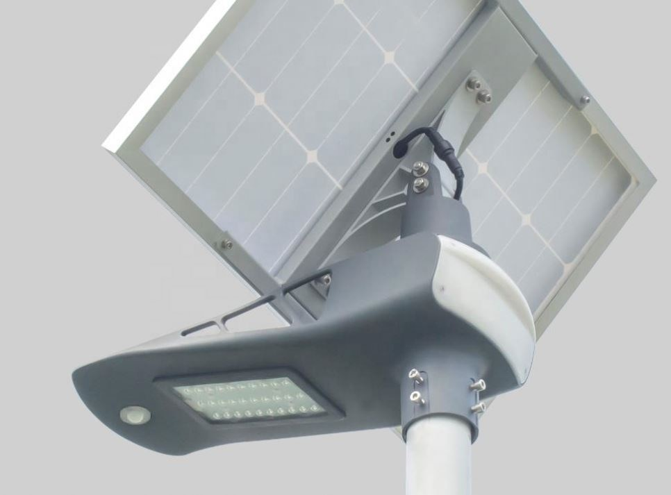Semi Integrated Outdoor Solar Motion Sensor Ip65 30W High Power 12V Aluminium Led Street Light enlarge