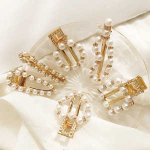 Hair pin Fashion Rhinestone Girls Bobby pin Hair clip Pearl Hair Accessory Gifts