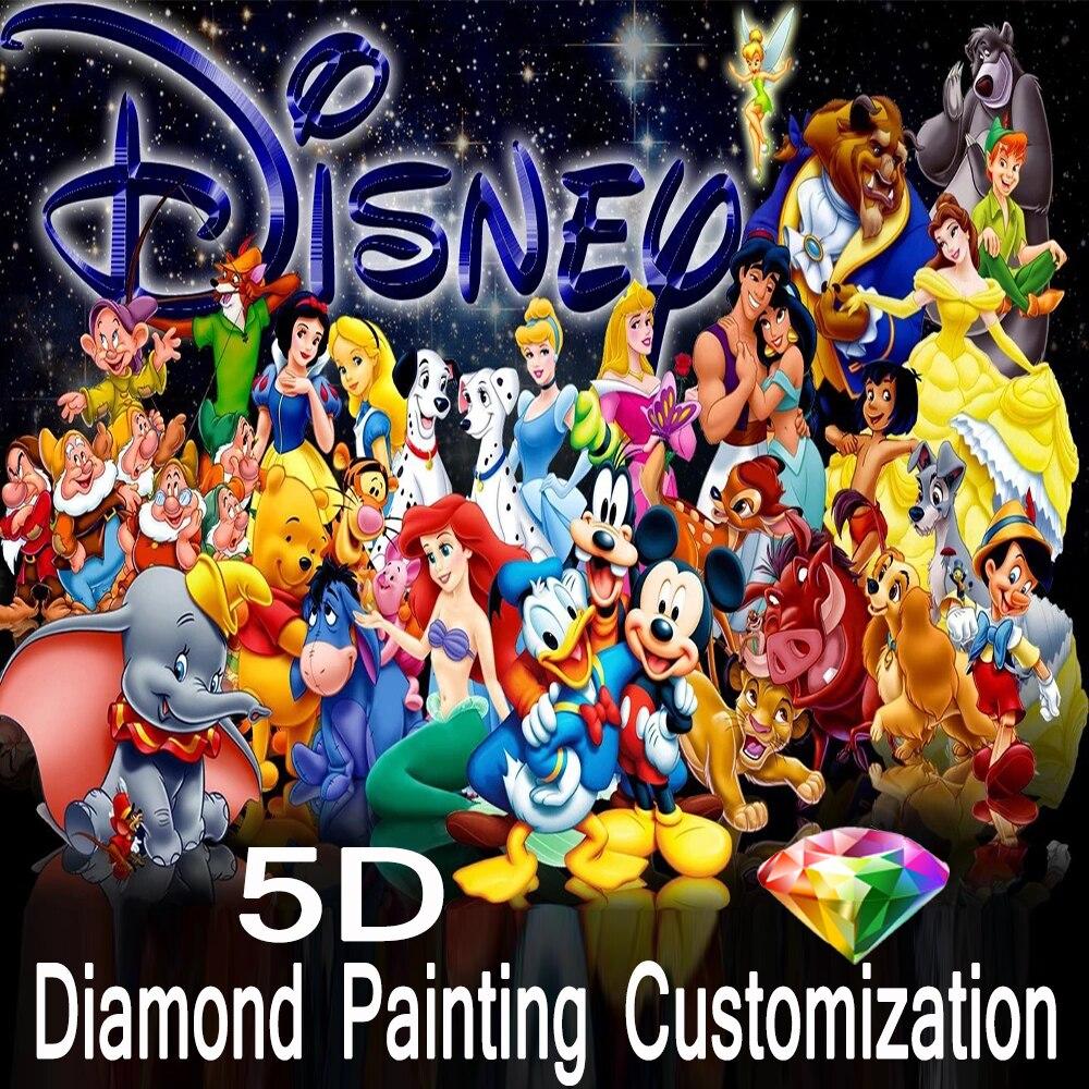 Diamond Painting 5D DIY Full Round Diamond Embroidery Disney Cartoon Full Series Character Mosaic Painting Home Decoration Gift