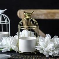 creative metal birdcage ceramic plants flower pot succulents home garden gardening decoration nordic living room home decor