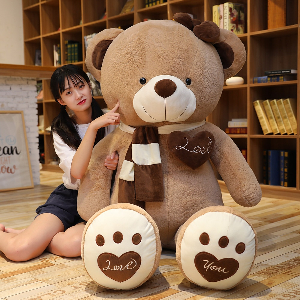Giant Teddy Bear Plush Toys Soft Teddy Bear Popular Birthday Valentine Gifts For Friend