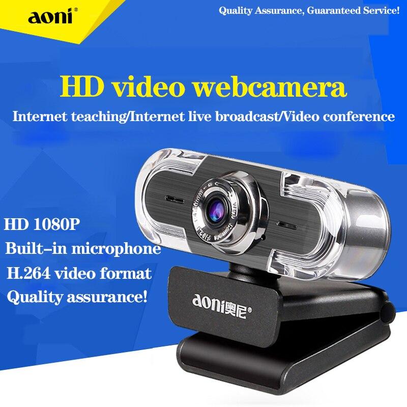 كاميرا ويب 1080P Aoni C30 كامل HD 1080P مكالمة فيديو كاميرا الويب لاقط متعدد الاتجاهات الحد من الضوضاء الرقمية ميكروفون USB كاميرا الويب era