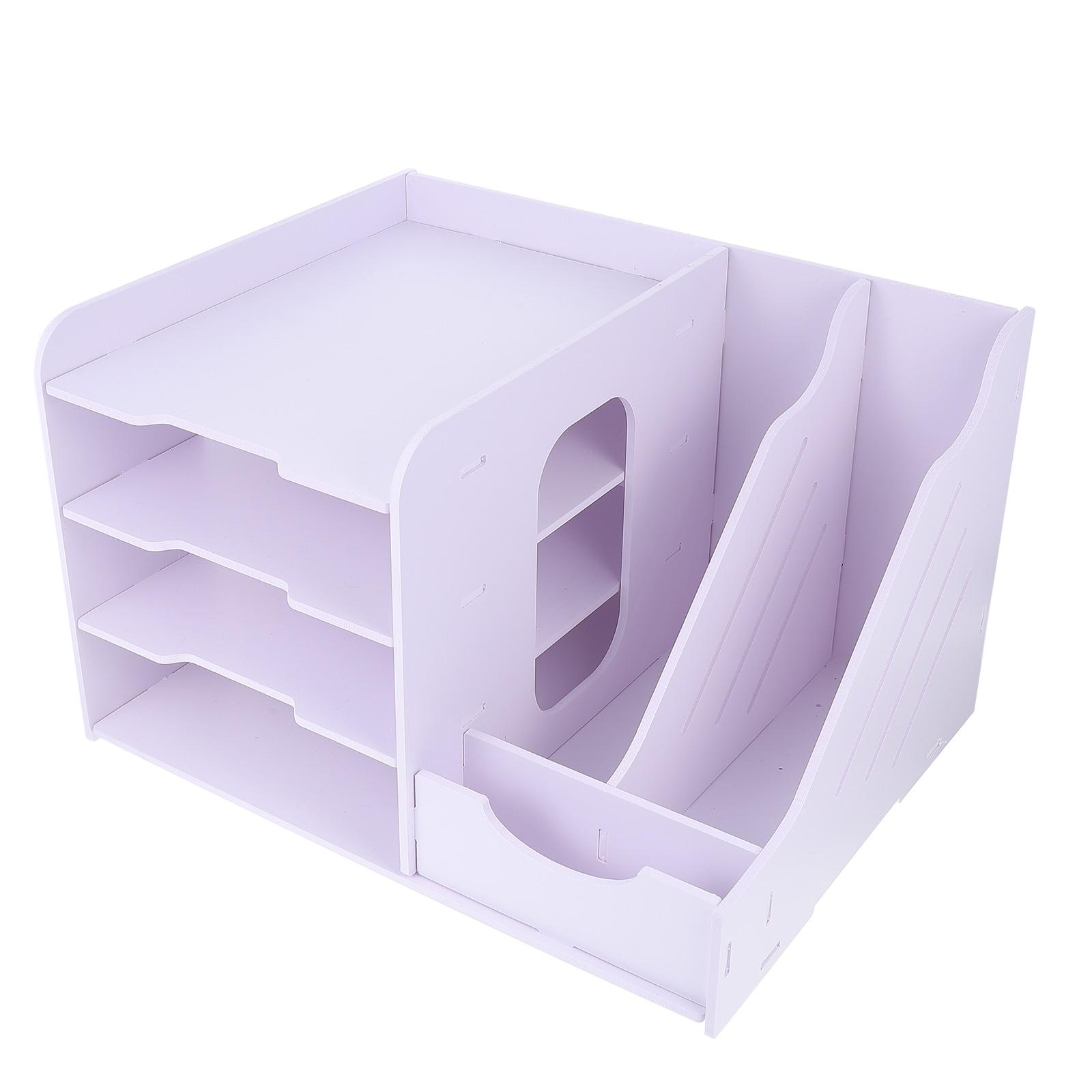 1 قطعة العملي مكتب عمل رف ملفات موثوقة متعددة طبقة رف ملفات صندوق تخزين