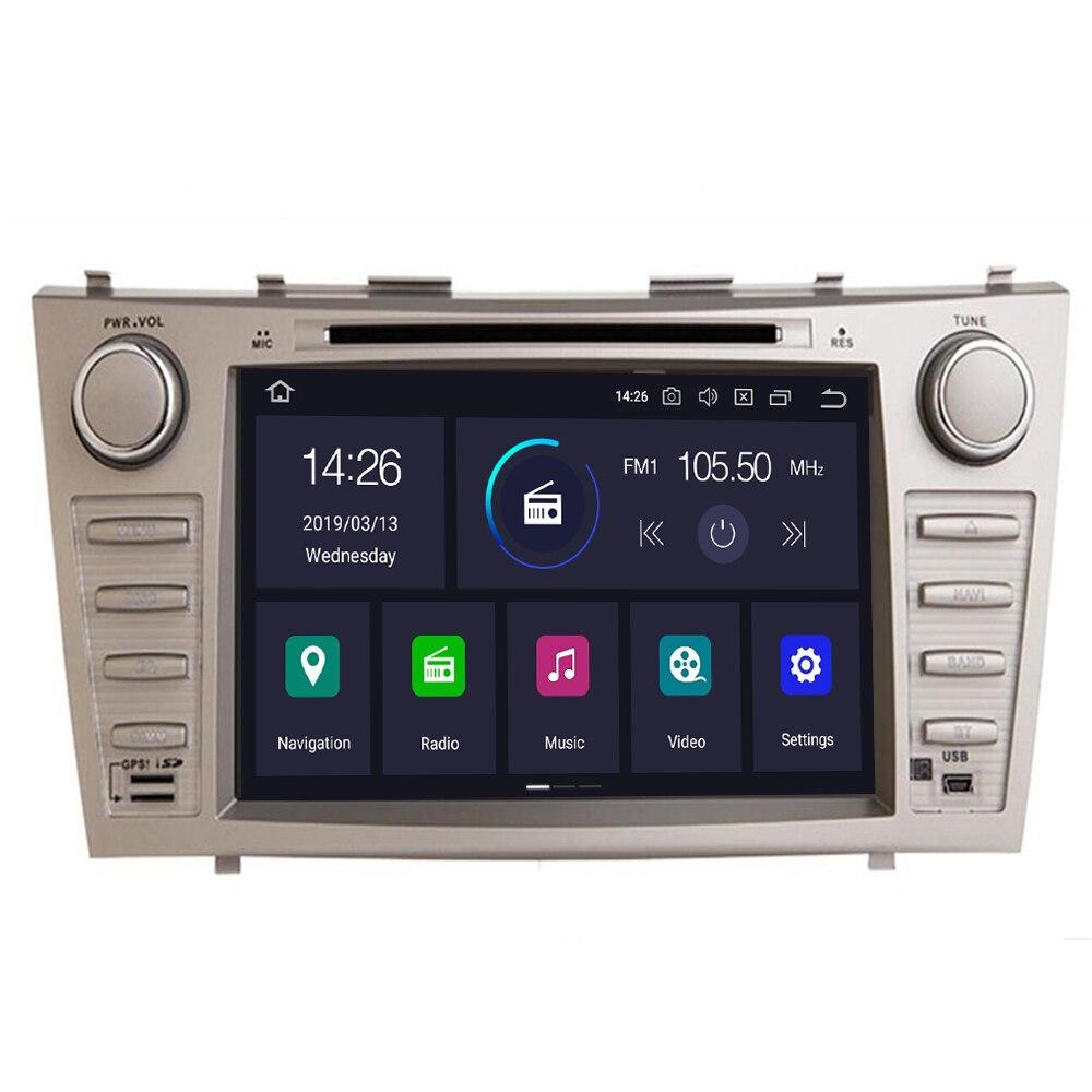 DSP IPS 4G 64G ore Android 10 8 core coche reproductor Multimedia para Toyota camry 2007-2011 con RDS TDA7851 MIC nuevo mapa tarjeta de regalo