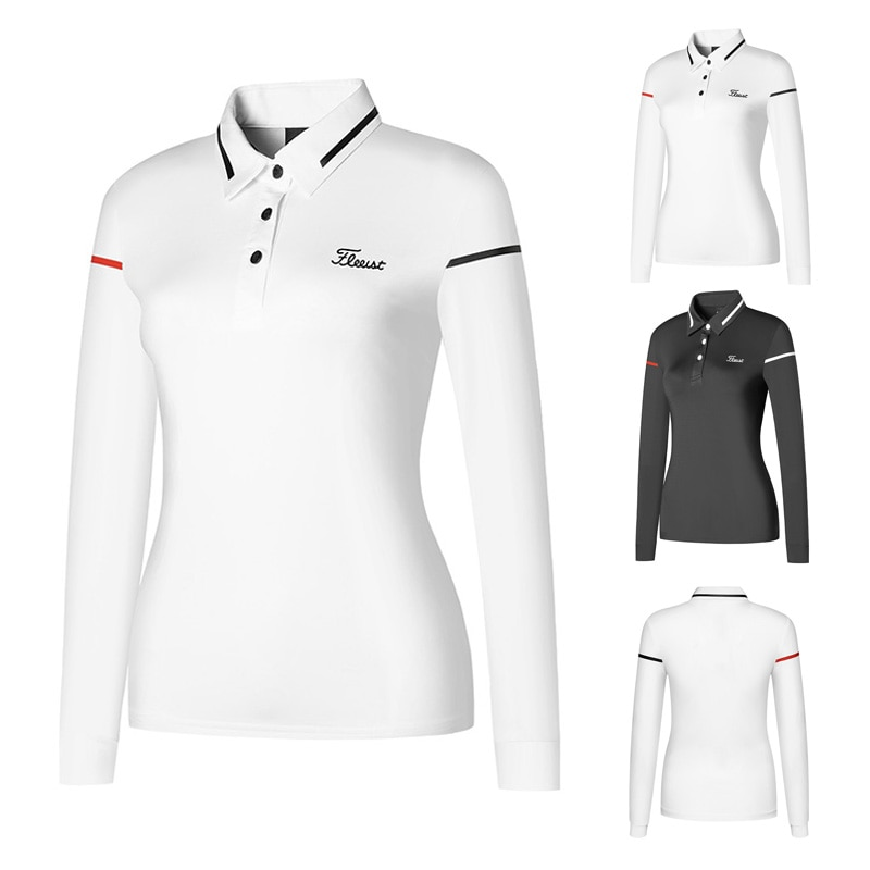 Golf Dress Top Womens long sleeve T-shirt breathable and comfortable outdoor leisure sports top polo shirt summer
