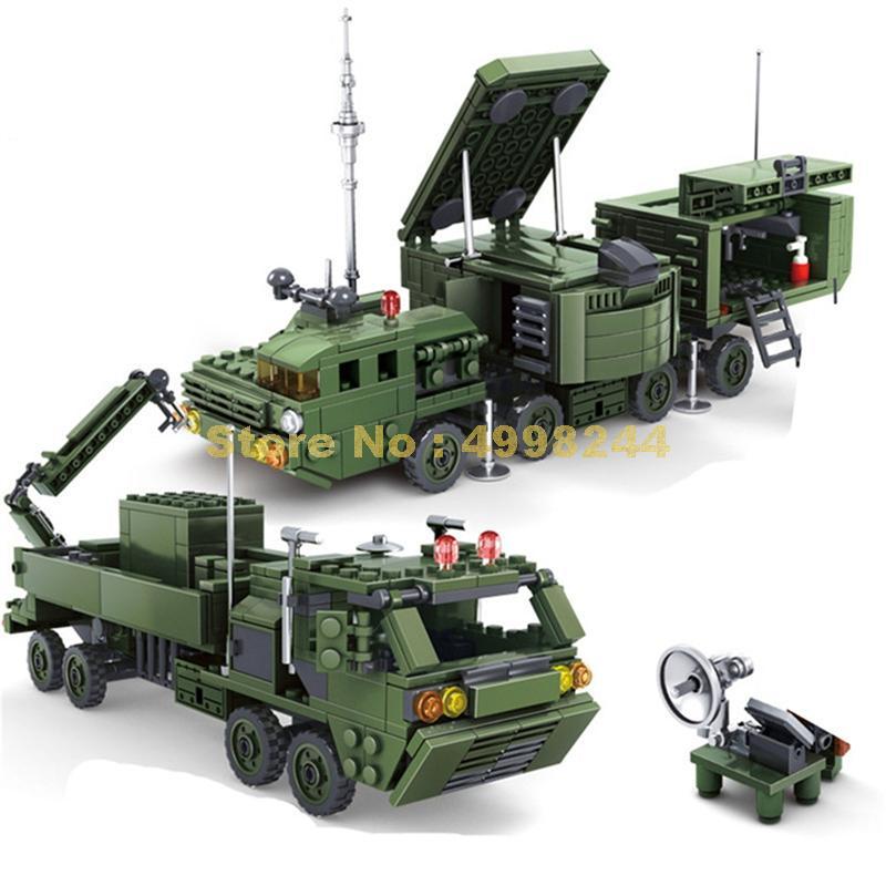 84038 534 pçs militar do exército irradiação radar carro militar 2 figuras blocos de construção tijolos brinquedo