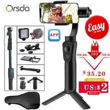 Orsda 3 оси Ручной Стабилизатор Gimbal смартфон телефон ручной зум уход за лицом для iPhone11 Pro Plus S9 S8 Gopro камера