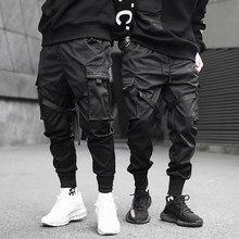 סרטי הרמון רצים גברים מטענים מכנסיים Streetwear 2020 היפ הופ מקרית כיסי מסלול מכנסיים זכר Harajuku אופנה מכנסיים