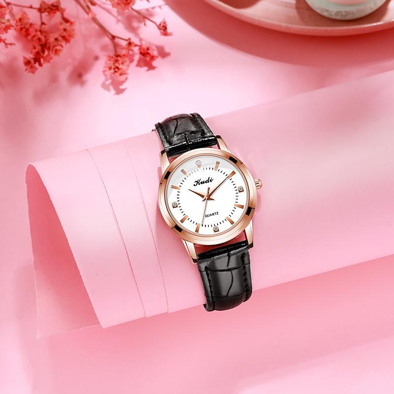 YUNAO New 2021 Ladies Watch Waterproof Scale Diamond Fashion Women's Watch Belt High-end Quartz Watch Customized Casual Watch