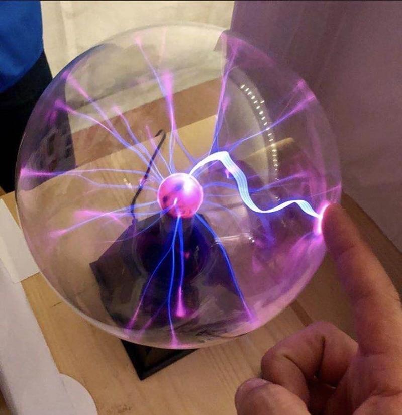 Novelty Glass Magic Plasma Ball Light Touch & Sound Sensitive Table Lights Sphere Nightlight Magic Plasma Toy Night Lamp