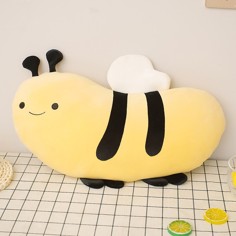 Kawaii Bumble Bee Plush Toys Kawaii Stuffed Soft Animals Sheep Pillow Buddy Doll Cushion Birthday Gifts For Kids Girls omilut bumble bee party decoration bumble bee cake topper what will it bee birthday banner wedding decoration supplies
