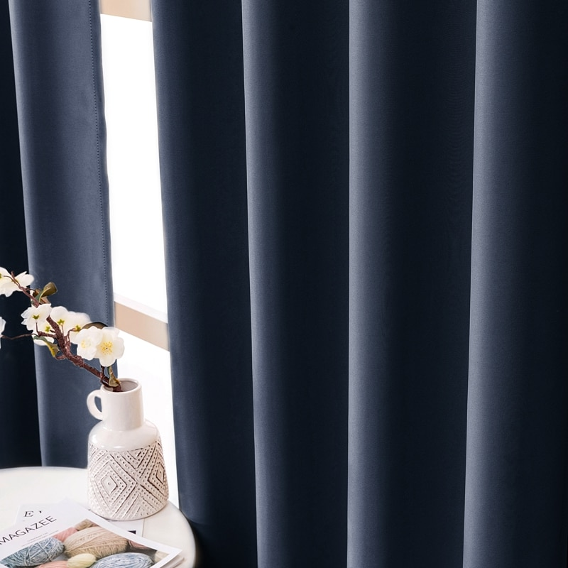 ELKA moderne rideaux occultants pour salon chambre fenêtre traitement stores rideaux finis couleur unie rideaux de cuisine