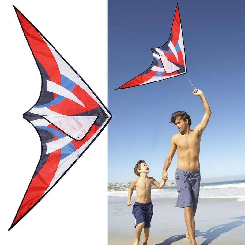 Triangle Colorful Kite With Line Flying Foldable Tear-resistant Kite Outdoor Beach Kite Children Sport Toys Garden Kite
