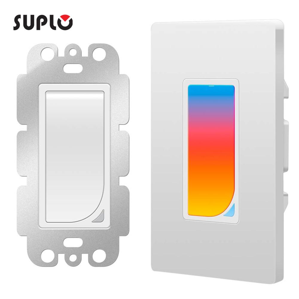 سوبلو الولايات المتحدة واي فاي RGB LED المشهد ضوء مفتاح إضاءة ذكي الجدار التبديل اللاسلكية مفتاح ذكي AC100-240V 1100 واط APP التحكم