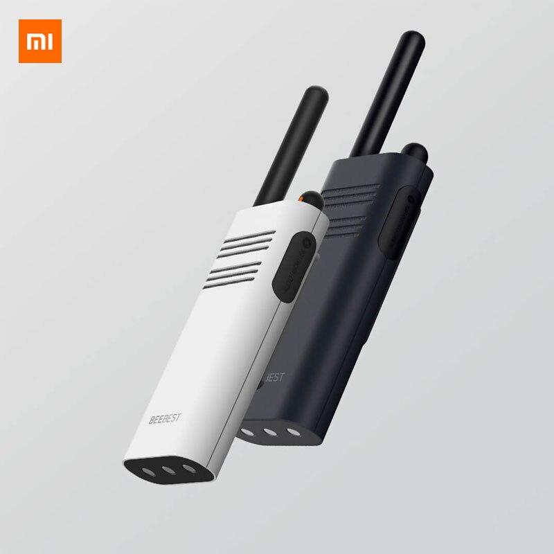 Original xiaomi beebest inteligente walkie talkie 1-5 km chamada 16 canal anti-jamming longa espera handheld inteligente interfone