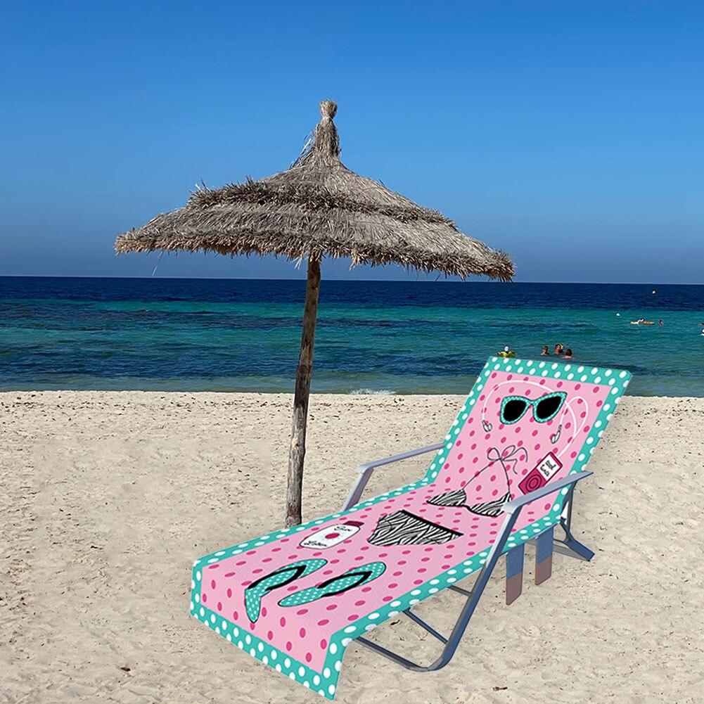 Пляжный чехол для кресла отдыха, летнее крутое пляжное полотенце для кровати, сада, загара, ленивое шезлонг, коврик для стула, шезлонг, мат