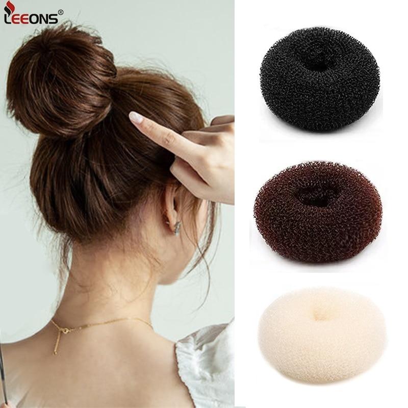 bun bun button Leeons S/M/L Hair Donut Bun Maker Hair Bun Accessories Hair Tools Styling Diy Magic Bun Maker French Braid Hair Tool 3 Colors
