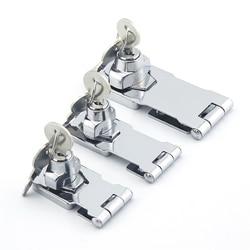 Cadeado de segurança auto-travamento com 2 chaves, cadeado com fio de liga de zinco e segurança 3 anos de garantia porta porta