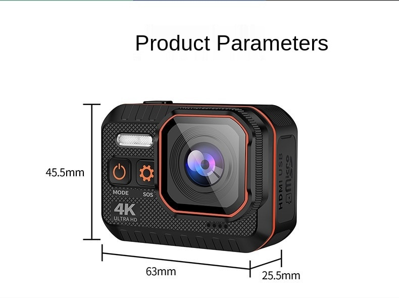 4K Sports Camera Wifi Diving Video Shooting Camera Mini Outdoor 1080P Action Camera Waterproof Ultra HD Wide Angle RecordingCam enlarge