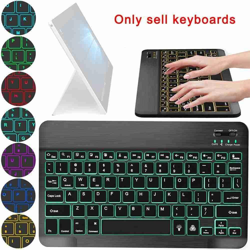 New Bluetooth Keyboard Backlit Teclado For IPad Android Windows IOS Phone Tablet Wireless Keyboard For Samsung Huawei Tablet