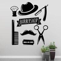 Autocollant mural en Pvc pour salon de coiffure  decoration artistique moderne  a la mode  pour chambre denfants  decoration de maison  bricolage