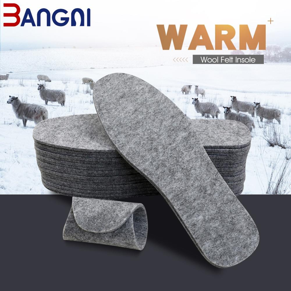 unisex wool felt insoles for winter men women thick soft warm plush shoes inserts heated breathable sweat absorbant soles pad 3ANGNI 5 Pairs Wool Felt Insoles Thick Warm Insole For Shoes Women Men Genuine Wool Breathable Shoe Pad.