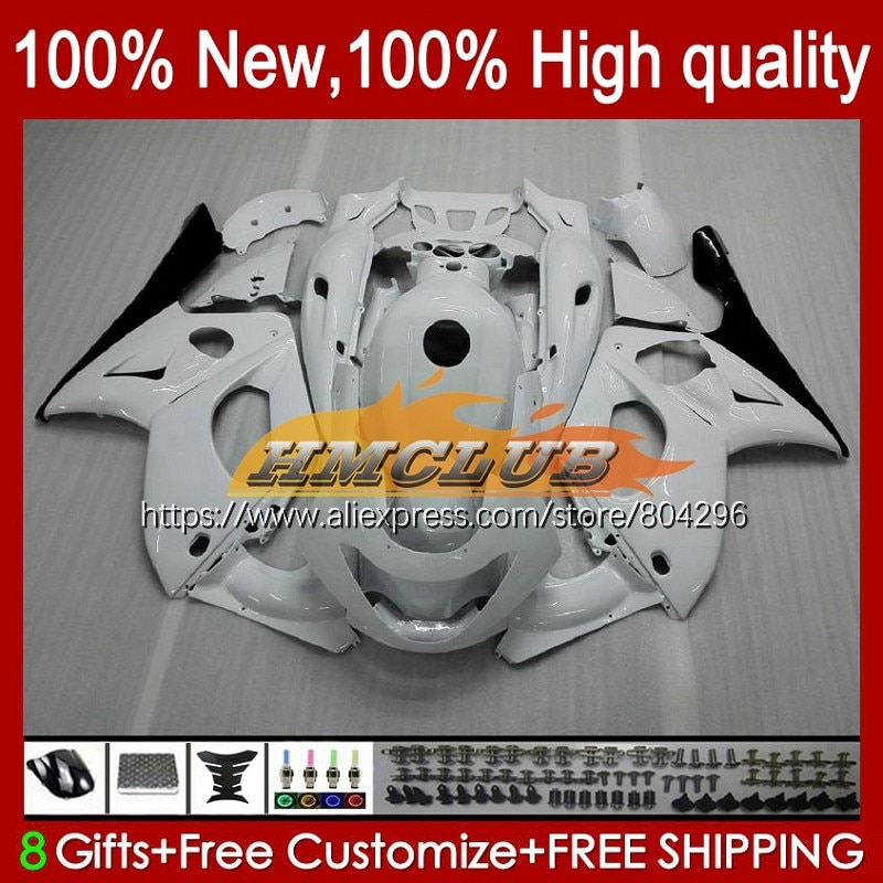Thundercat كيت لياماها YZF600R 96 97 98 99 00 01 45No.8 YZF-600R لمعان الأبيض YZF 600R 2002 2003 2004 2005 2006 2007 هدية